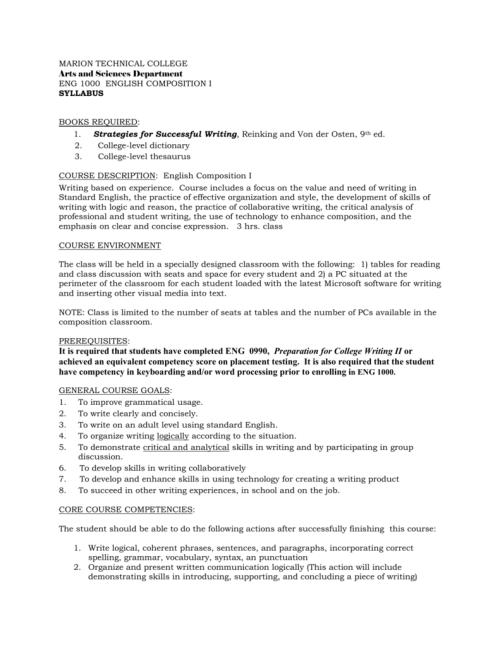 small resolution of ENG 1000 English Comp I Syllabus