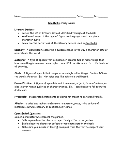 small resolution of Seedfolks Study Guide