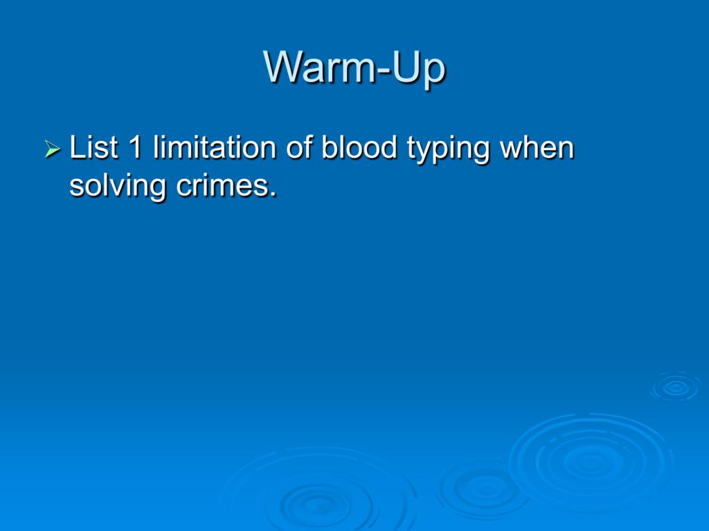 Blood Spatter Worksheet