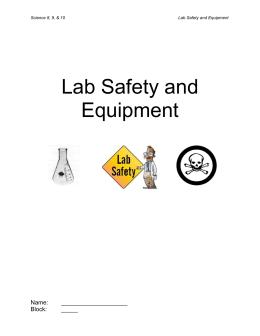 Lab Tools Scavenger Hunt