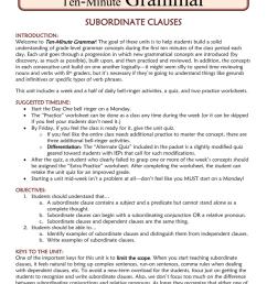 Subordinate Clauses [ 1024 x 791 Pixel ]