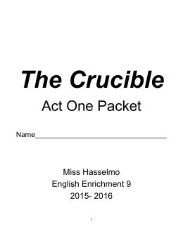 Crucible Sociogram