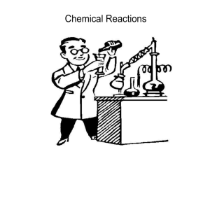 Chapter 21- Chemical Reactions