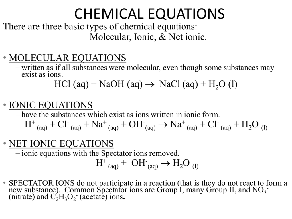 Ammonium Iodide Dissolved In Water Net Ionic Equation
