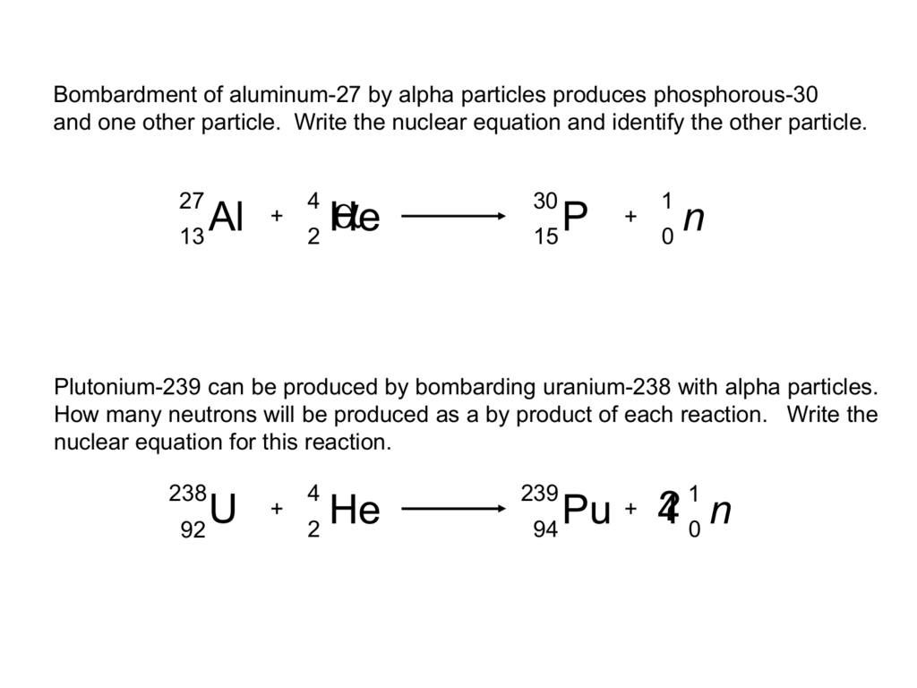 Uranium 234 Alpha Decay Equation