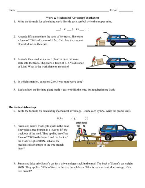 small resolution of 35 Simple Machines And Mechanical Advantage Worksheet Answer Key - Worksheet  Resource Plans