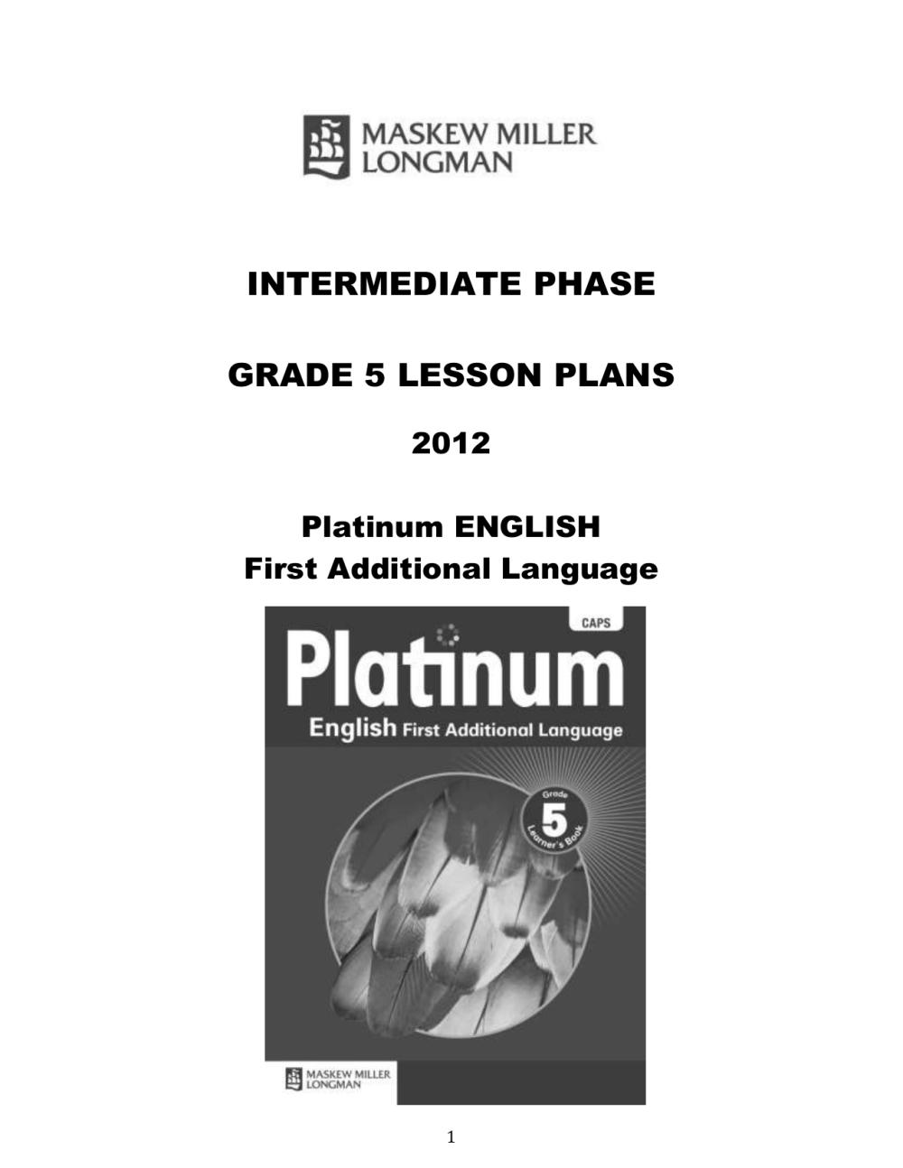 medium resolution of platinum-english-fal-grade-5-lesson-plans