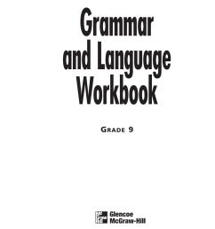 9th Grammar Workbook [ 1651 x 1275 Pixel ]