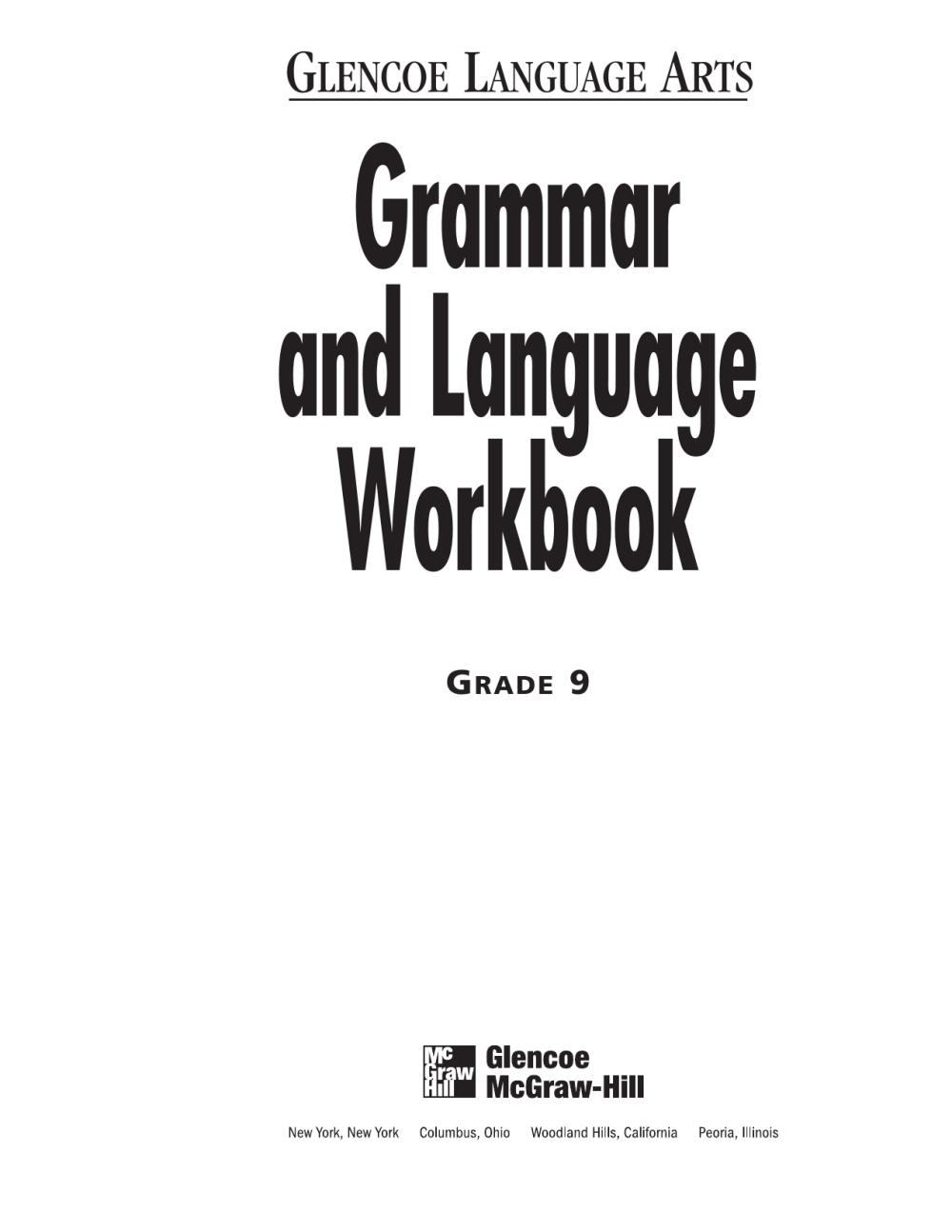 medium resolution of 9th Grammar Workbook