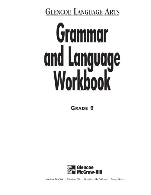 small resolution of 9th Grammar Workbook