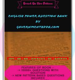Governmentadda.com English power question bank [ 1651 x 1275 Pixel ]