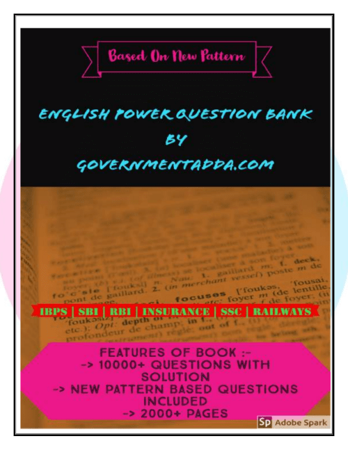 small resolution of Governmentadda.com English power question bank