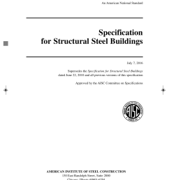 aisc part 16 a prelims 15th ed 2016 2016 11 15 11 22 am page i black plate ansi aisc 360 16 an american national standard specification for structural  [ 1050 x 1500 Pixel ]