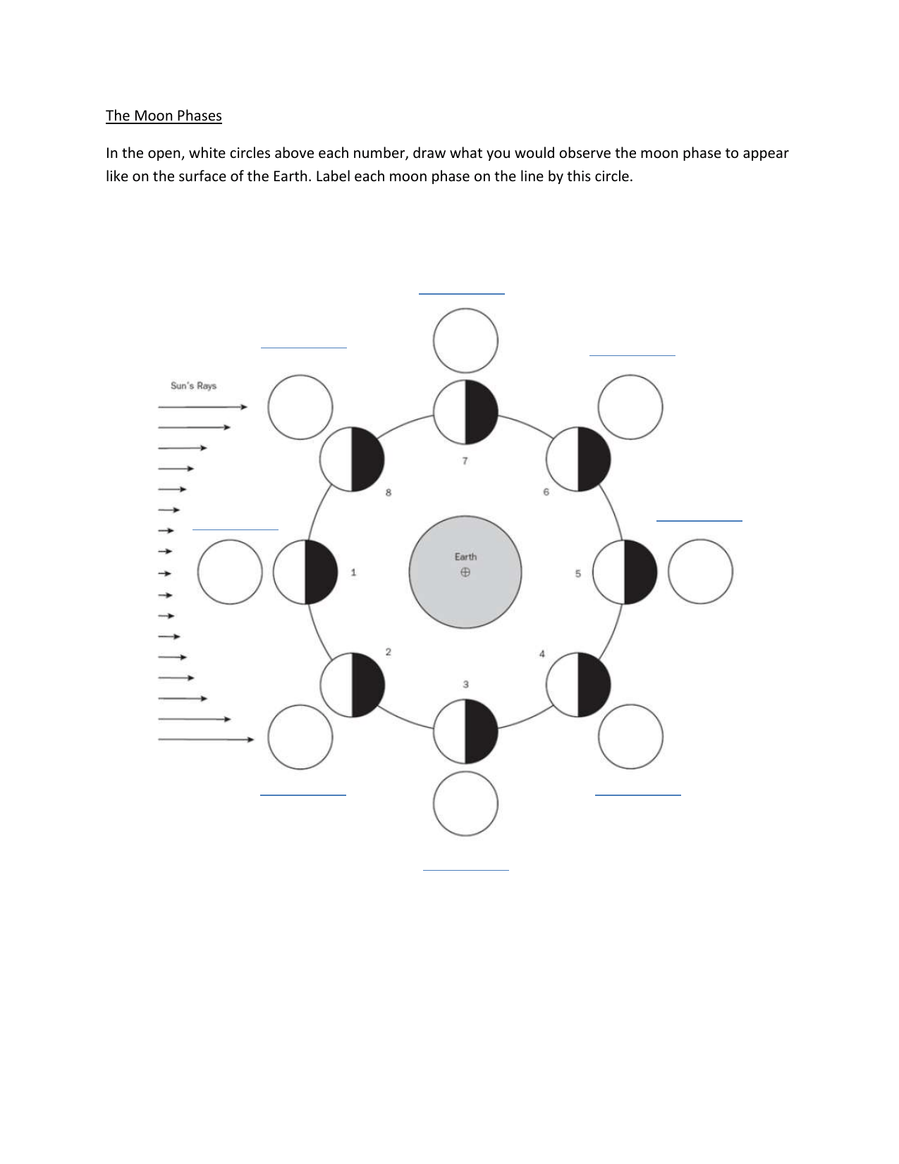 hight resolution of moon phases worksheet (1)