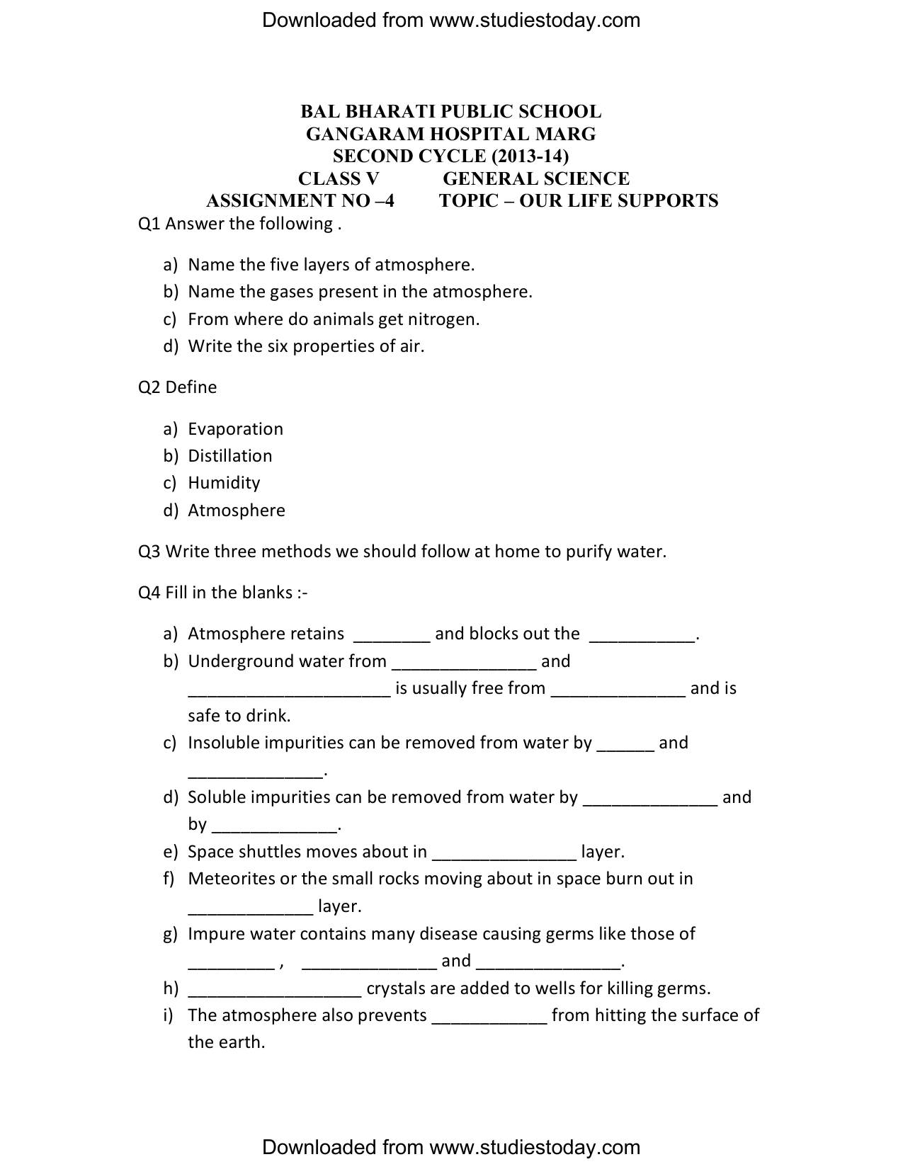 Cbse Class 5 Science Worksheets 4