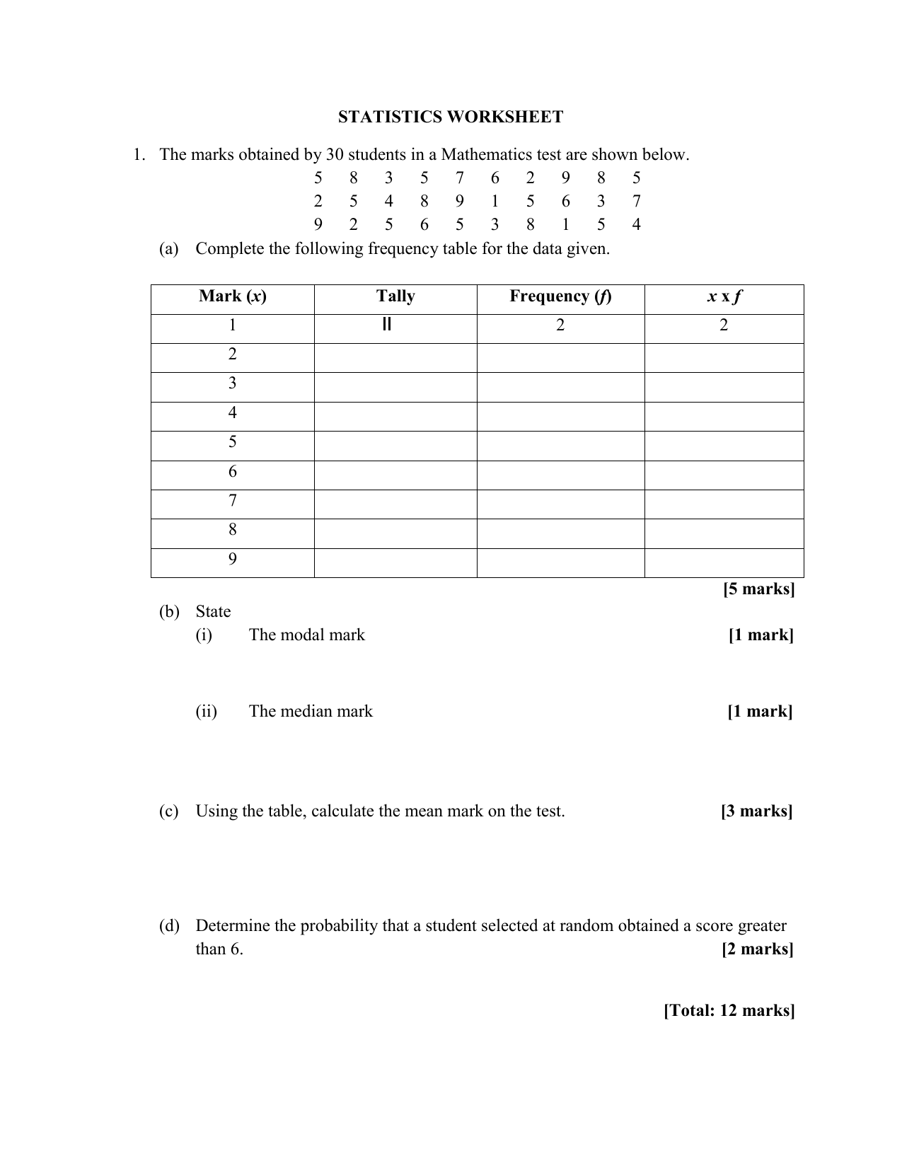hight resolution of Statistical Worksheet In Tableau   Printable Worksheets and Activities for  Teachers