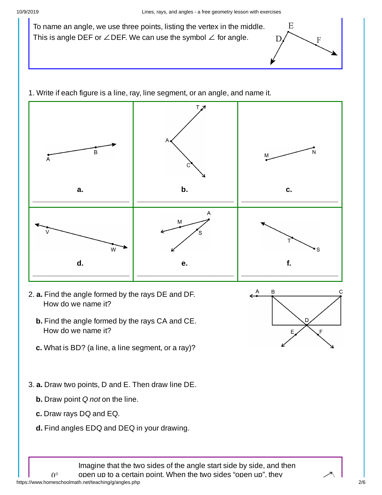 hight resolution of Point Line Ray Line Segment Worksheet   Printable Worksheets and Activities  for Teachers