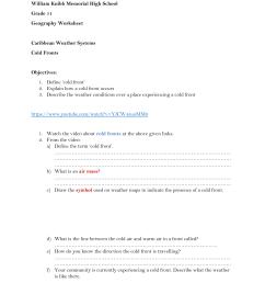 Cold Front Worksheet [ 1651 x 1275 Pixel ]