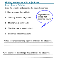 grammar-worksheet-grade-1-adjectives-1 [ 1651 x 1275 Pixel ]