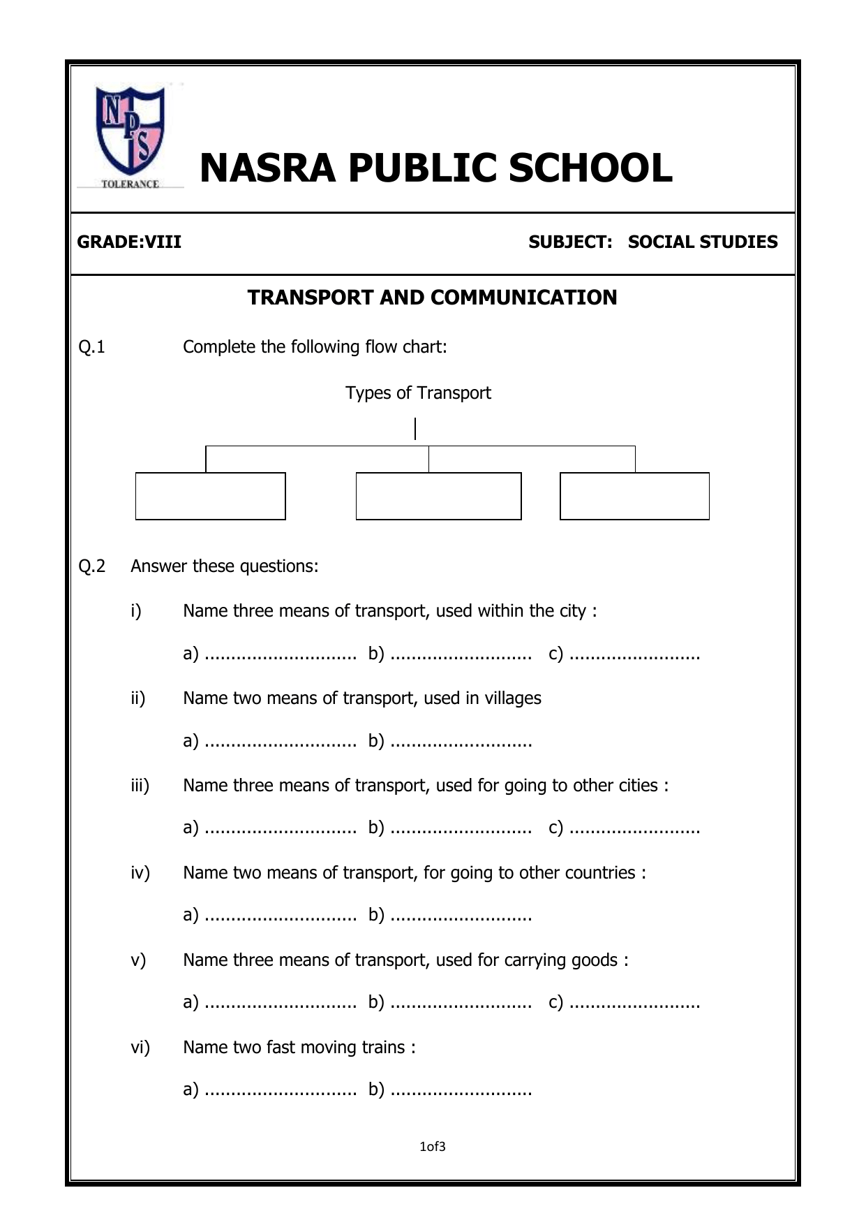 hight resolution of Transportation and Communication worksheet-8