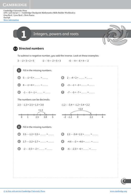 small resolution of Integers powers and Roots worksheet