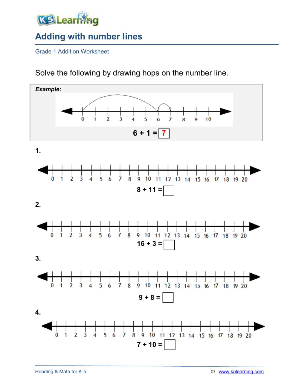 medium resolution of grade-1-number-line-addition-a4