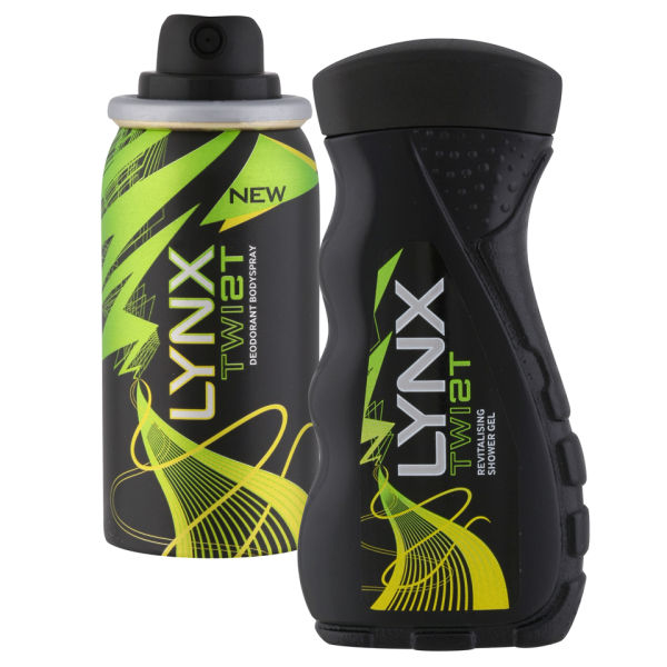 Lynx Twist Mens Holiday Pack Minis Body Spray and Shower Gel Health  Beauty  TheHutcom