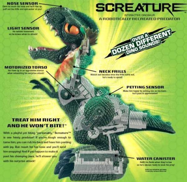 Screature Interactive Dinosaur Toys