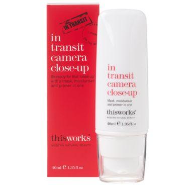 Mascarilla, base e hidratante todo en uno this works In Transit Camera Close-Up (40ml)
