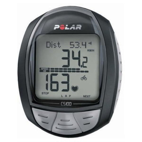 polar cs100 bike computer heart rate monitor for cycling sports