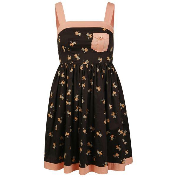 Orla Kiely Women' Sun Dress - Black Free Uk Delivery