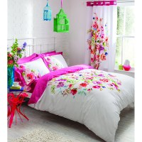 Catherine Lansfield Bright Floral Bedding Set - Multi | IWOOT