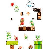 Super Mario Bros. Wall Stickers | Nintendo UK Store