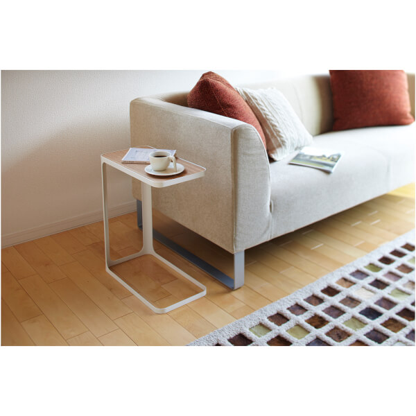 small table that slides under sofa 2 seater bed nz yamazaki frame side - white free uk delivery over £50