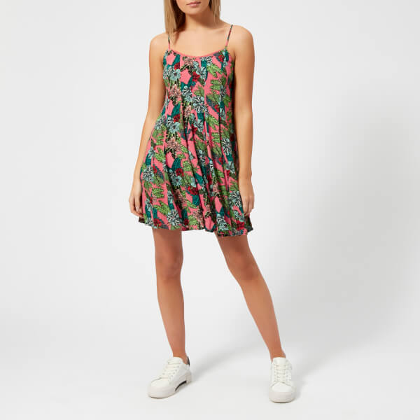 Superdry Women's Gemma Parachute Dress - Pop Hibiscus