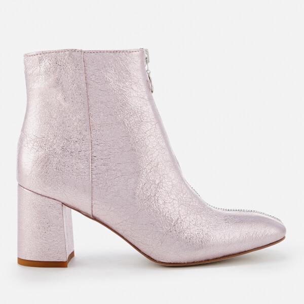 Rebecca Minkoff Women's Stefania Metallic Heeled Ankle Boots - Rock Pink
