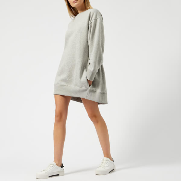 Tommy Hilfiger X GIGI Women's Open Back Sweat Dress - Light Grey Heather