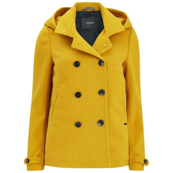 Maison Scotch Women' Wool Peacoat - Yellow Womens
