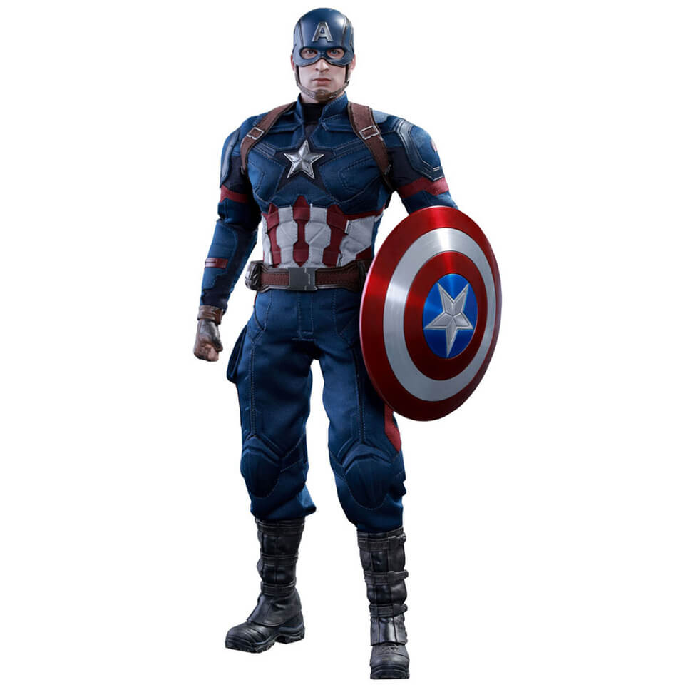 Hot Toys Marvel Captain America Civil War Captain America 12 Inch Figure Merchandise | Zavvi