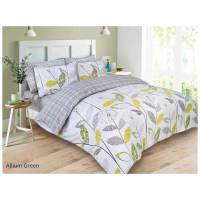 Dreamscene Allium Duvet Set - Green/Grey | IWOOT