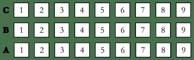 Sample seating chart