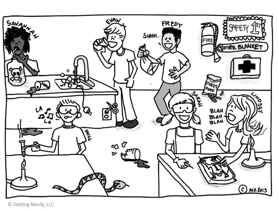Chemistry Lab Safety Cartoon Worksheet