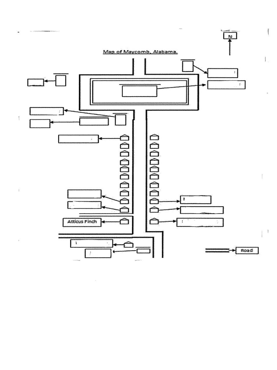 To Kill A Mockingbird Map Of Maycomb : mockingbird, maycomb, Maycomb:, Mockingbird