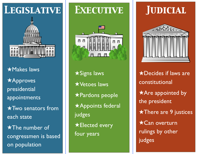 Image result for 3 branches of government