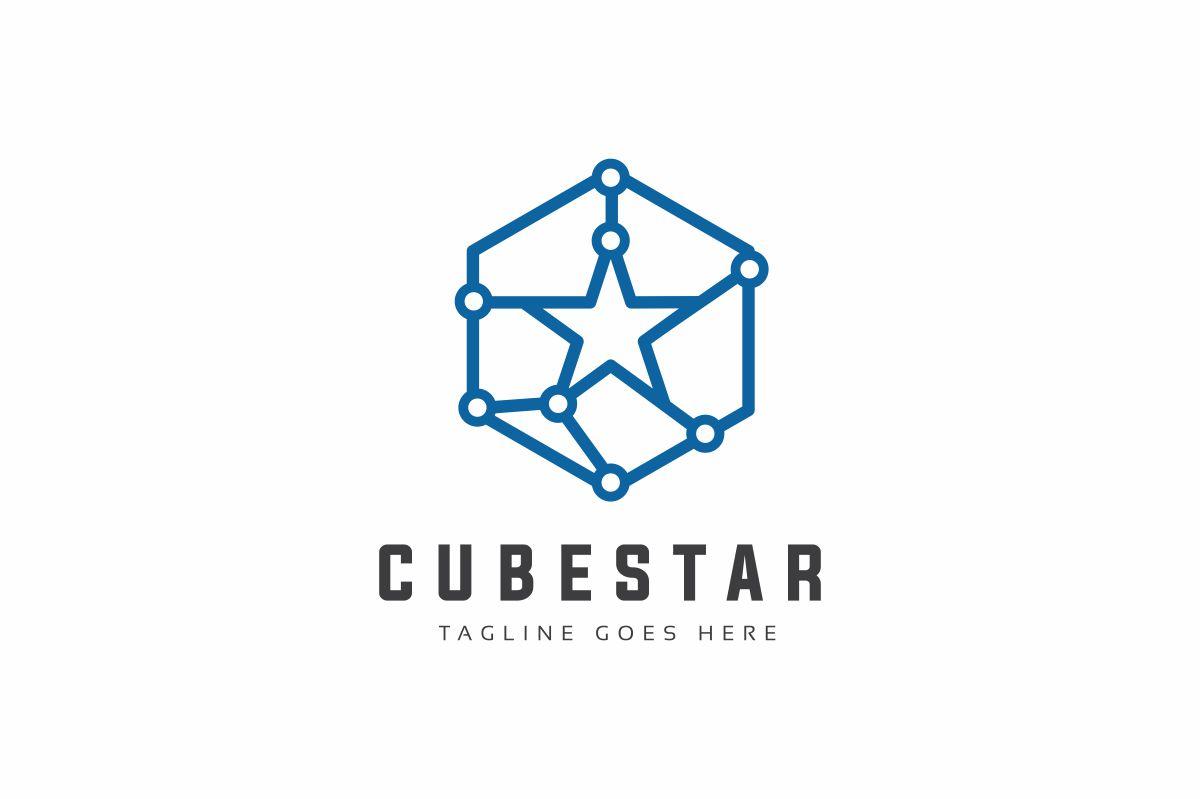 Cube Star Logo Template #79560