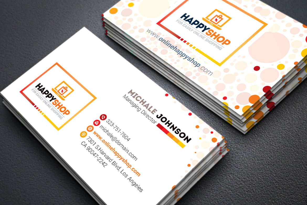 Business Card for E-Commerce or Online Shop | Shopping ...