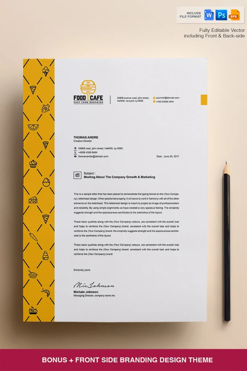 Creative Letterhead Template  Corporate Identity Template