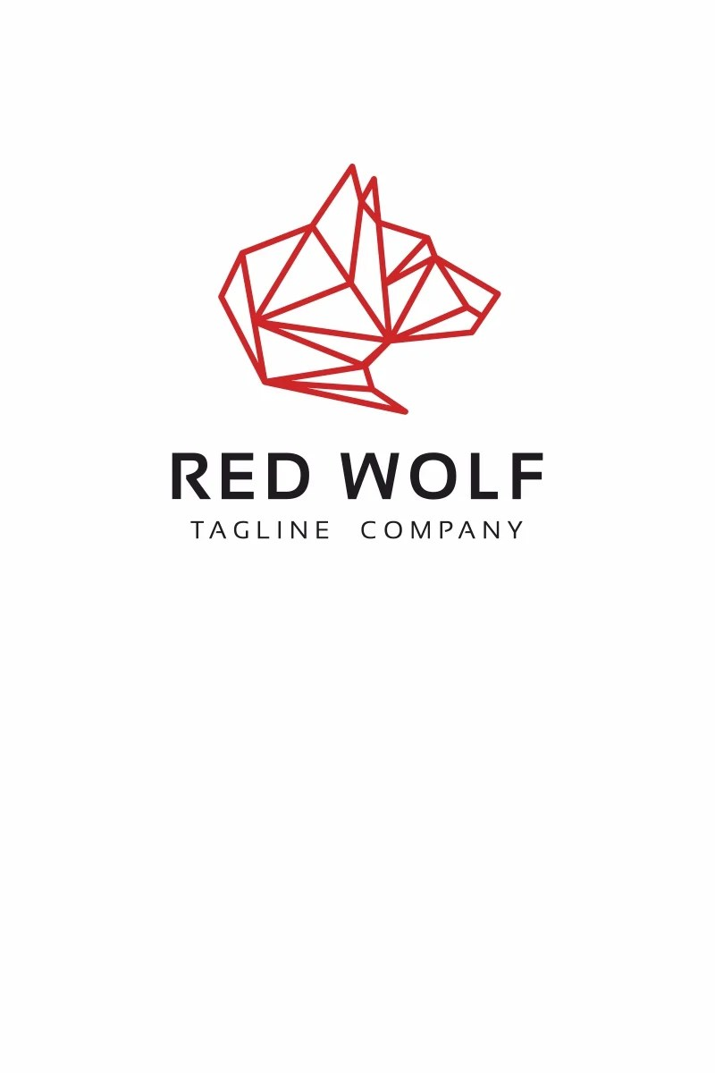 Red Wolf Logo Template #67781