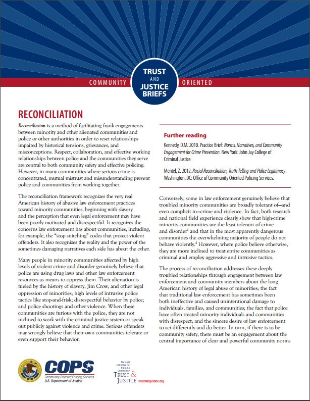 Reconciliation National Initiative