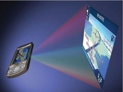 Cellphones to come with projector